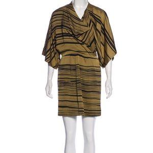 Silk Olive and Black Mara Hoffman Dress
